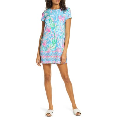 Lilly Pulitzer Blanca Stretch Romper, Blue/green