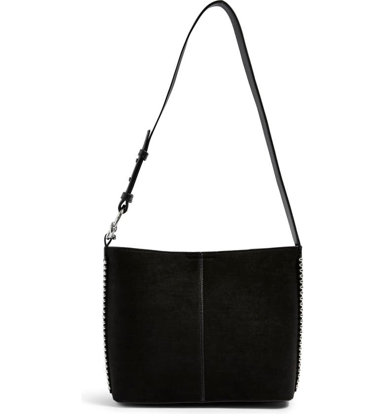 TOPSHOP Bee Stud Handbag, Main, color, BLACK