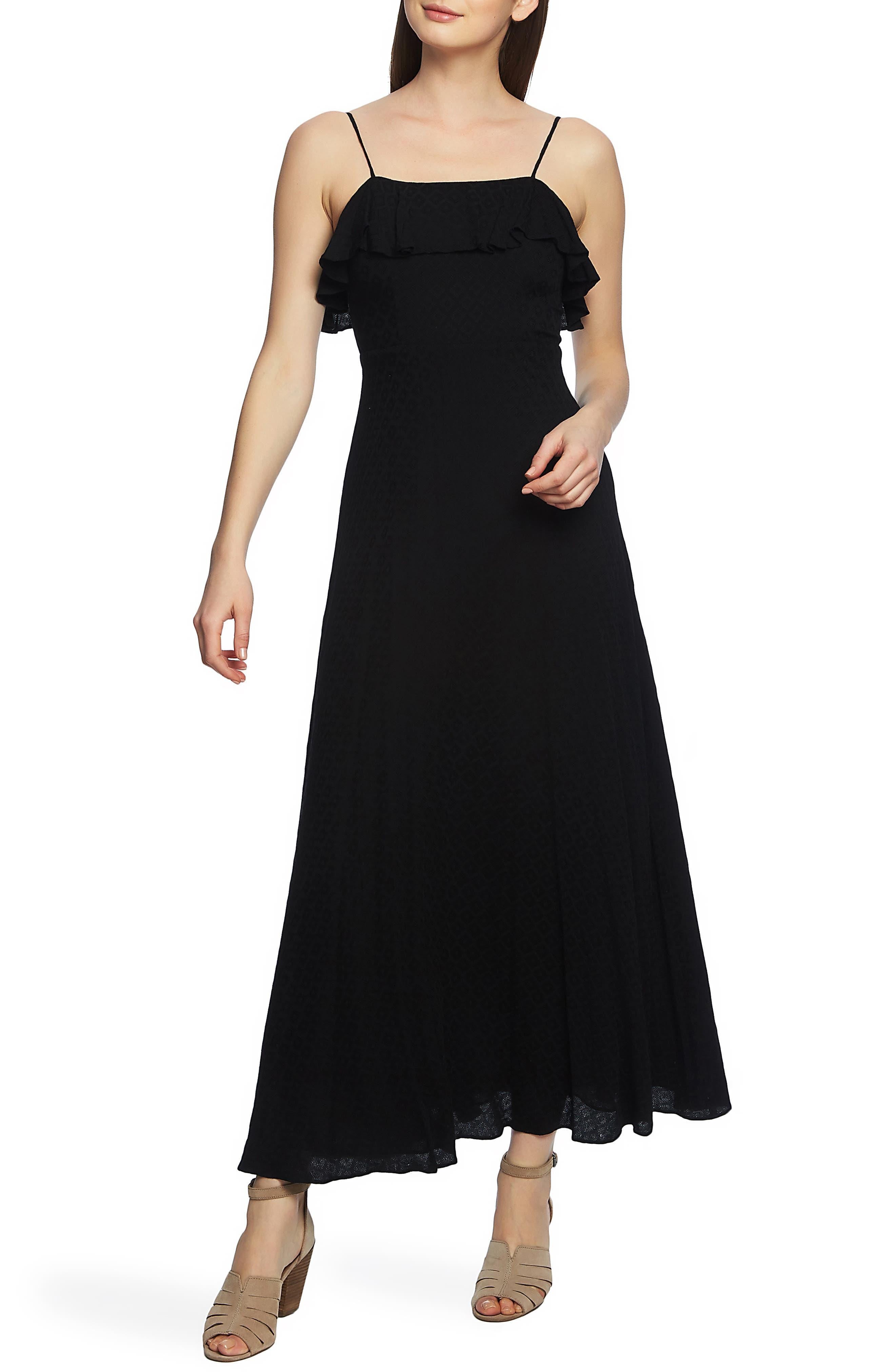 1.state Spaghetti Strap Maxi Dress, Black
