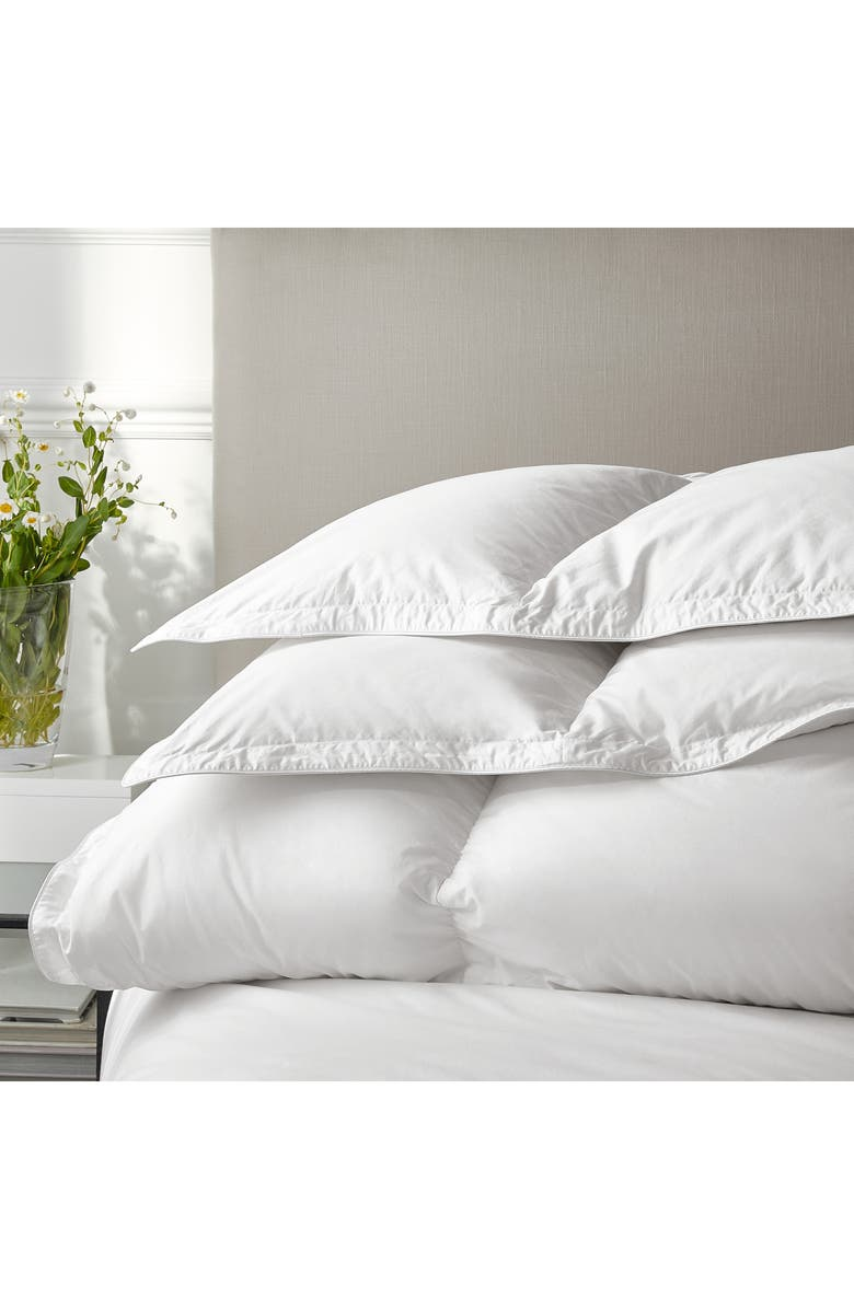 THE WHITE COMPANY Ultimate Symons Ultra Warm Down Comforter, Main, color, WHITE
