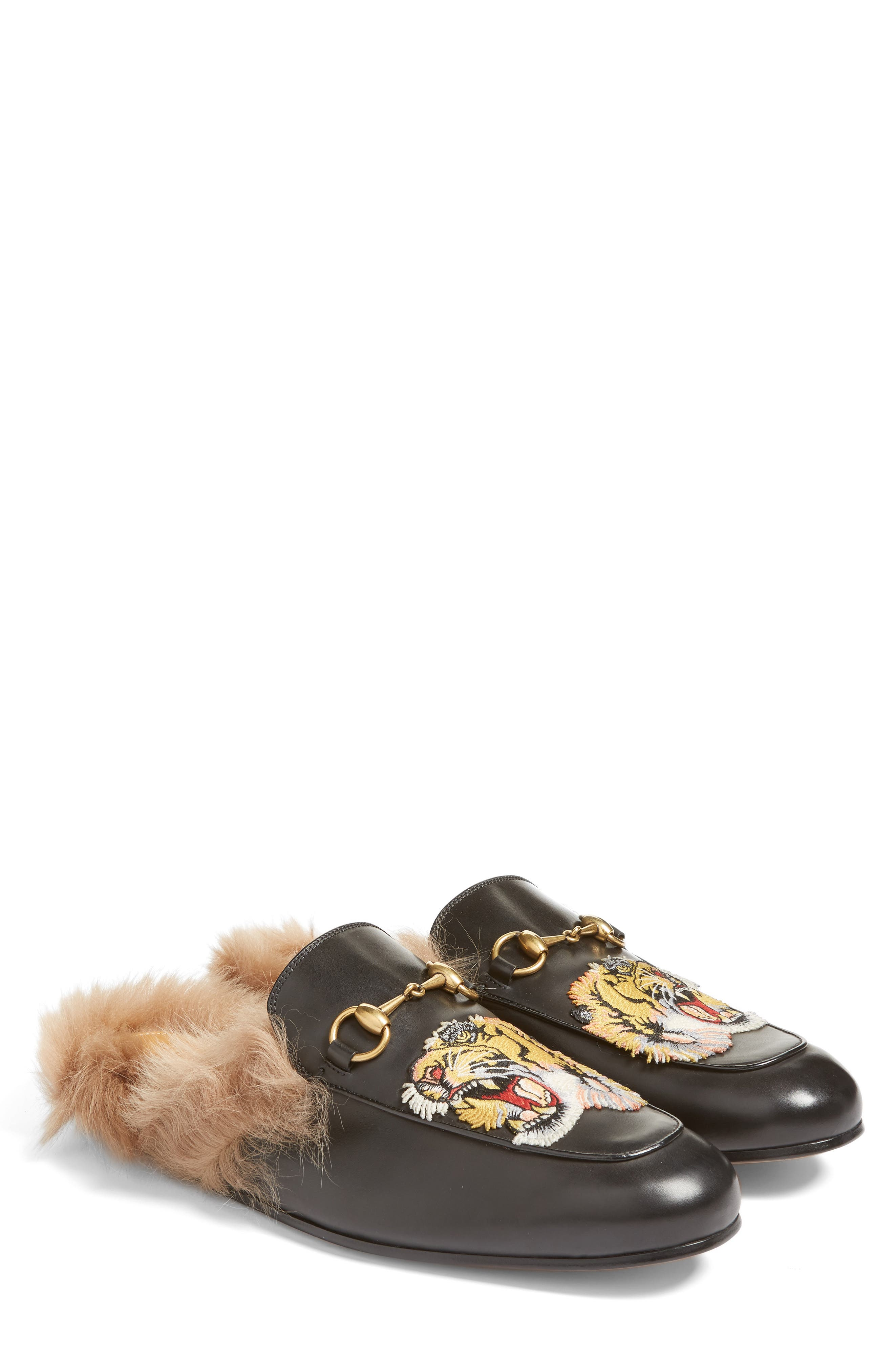 ,                             Princetown Genuine Shearling Lined Mule Loafer,                             Alternate thumbnail 19, color,                             008
