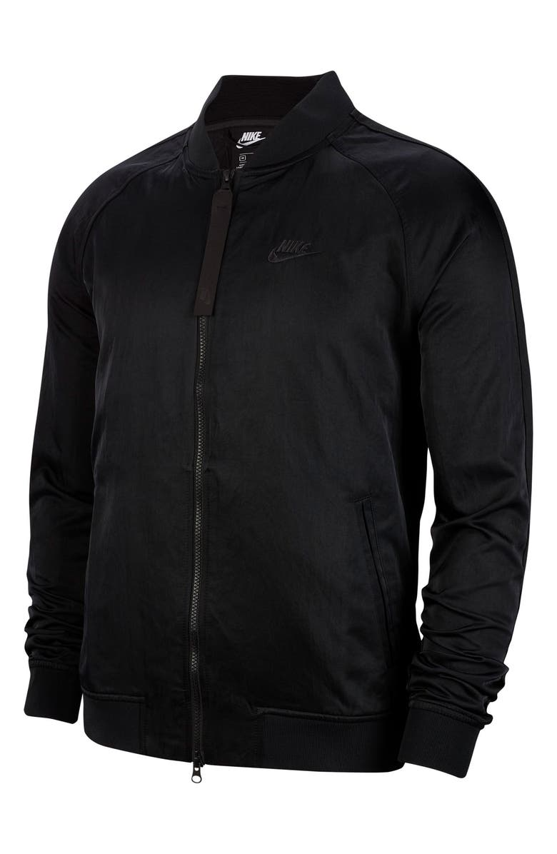 NIKE Sportswear Bomber Jacket, Main, color, BLACK/ BLACK