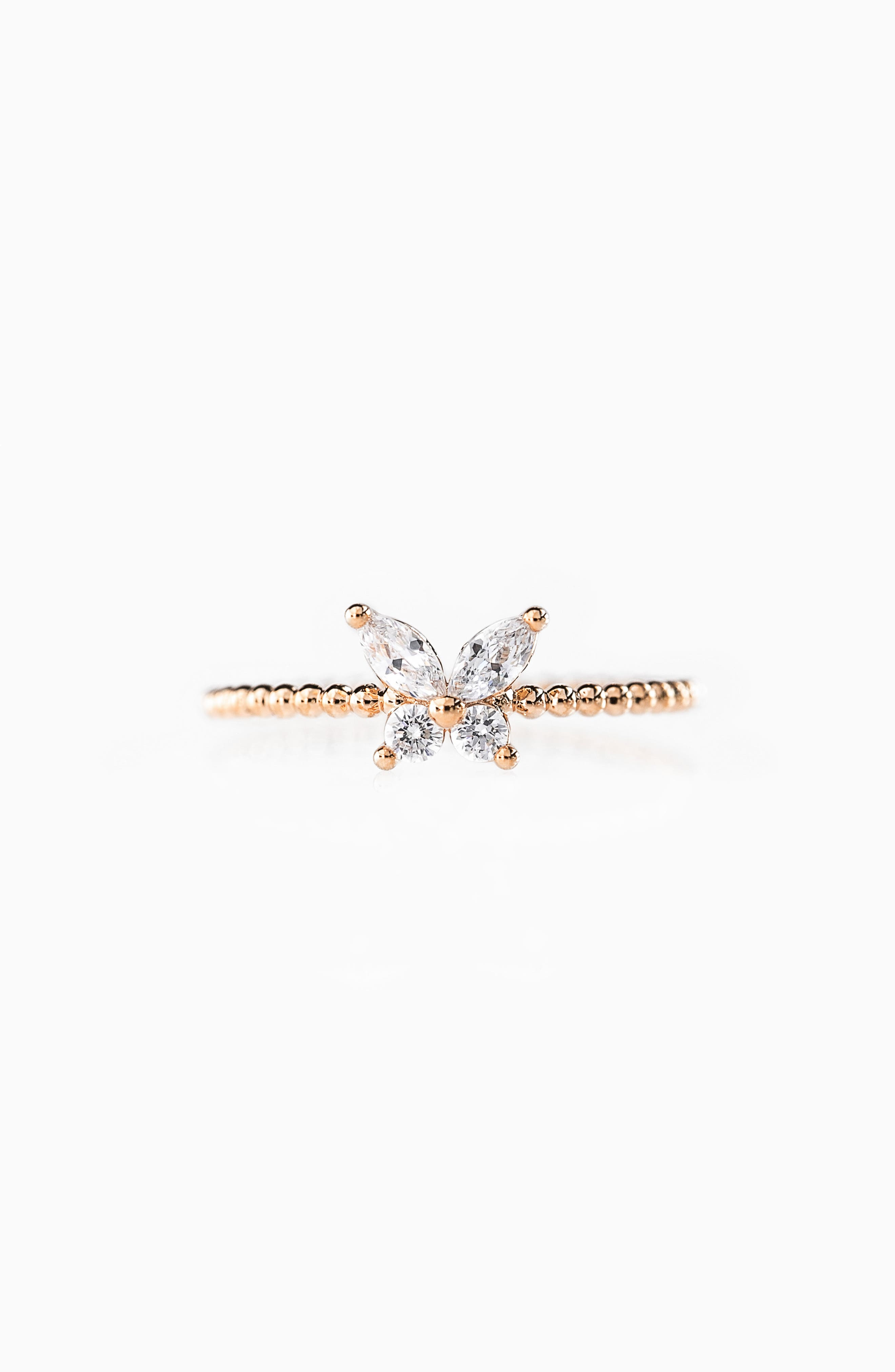 Born To Fly Butterfly Band Ring