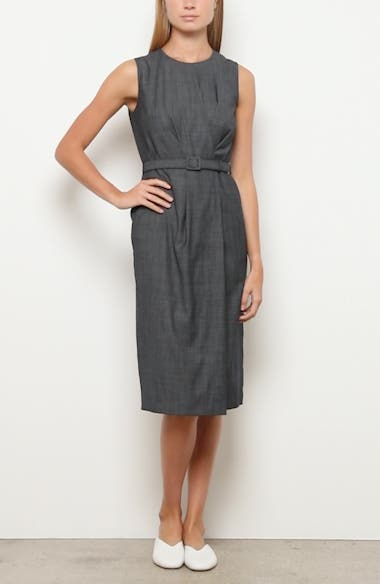 Jude Belted Faux Wrap Wool Blend Dress, video thumbnail