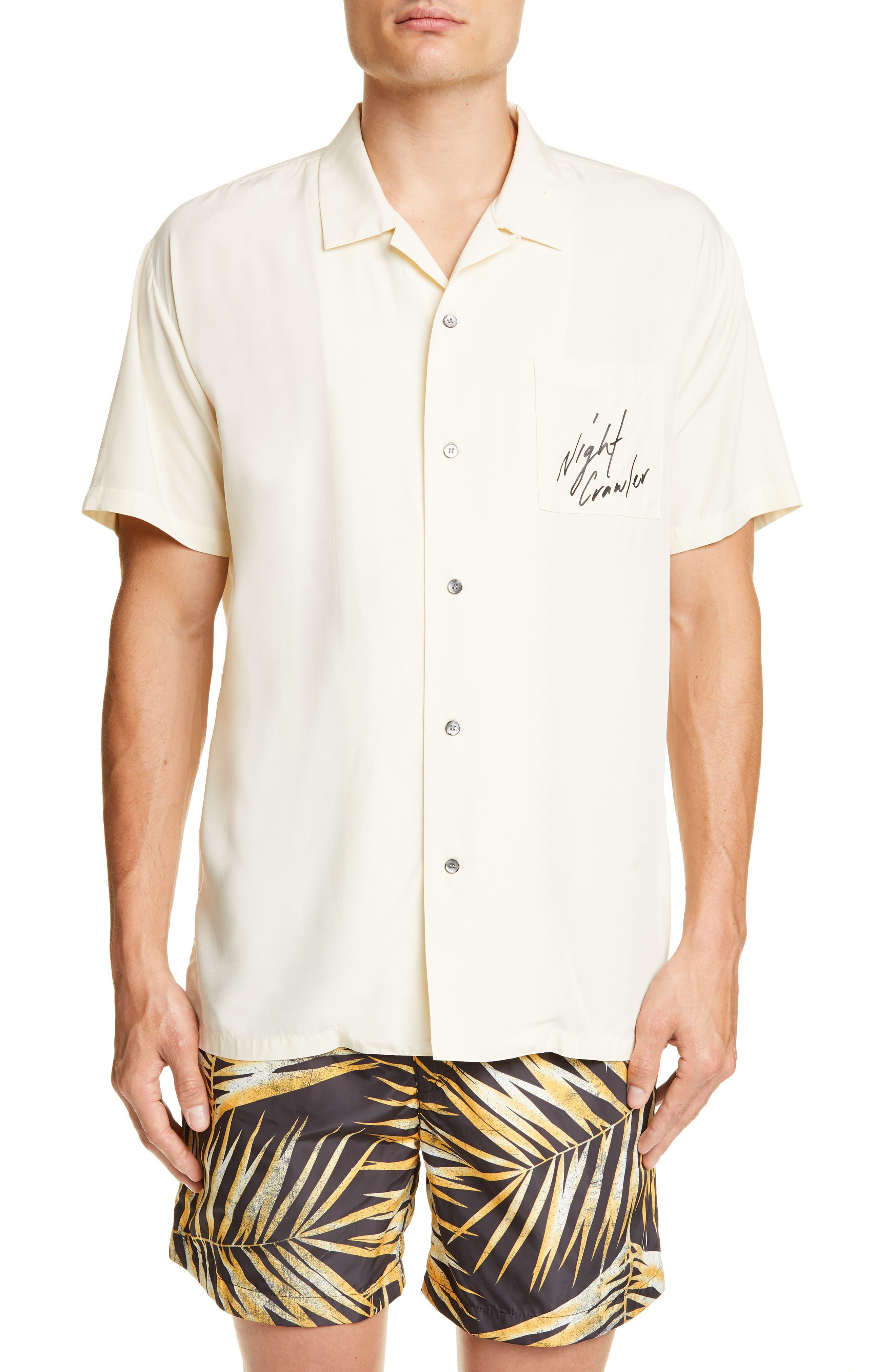 White Tiger Camp Shirt, Main, color, WHITE
