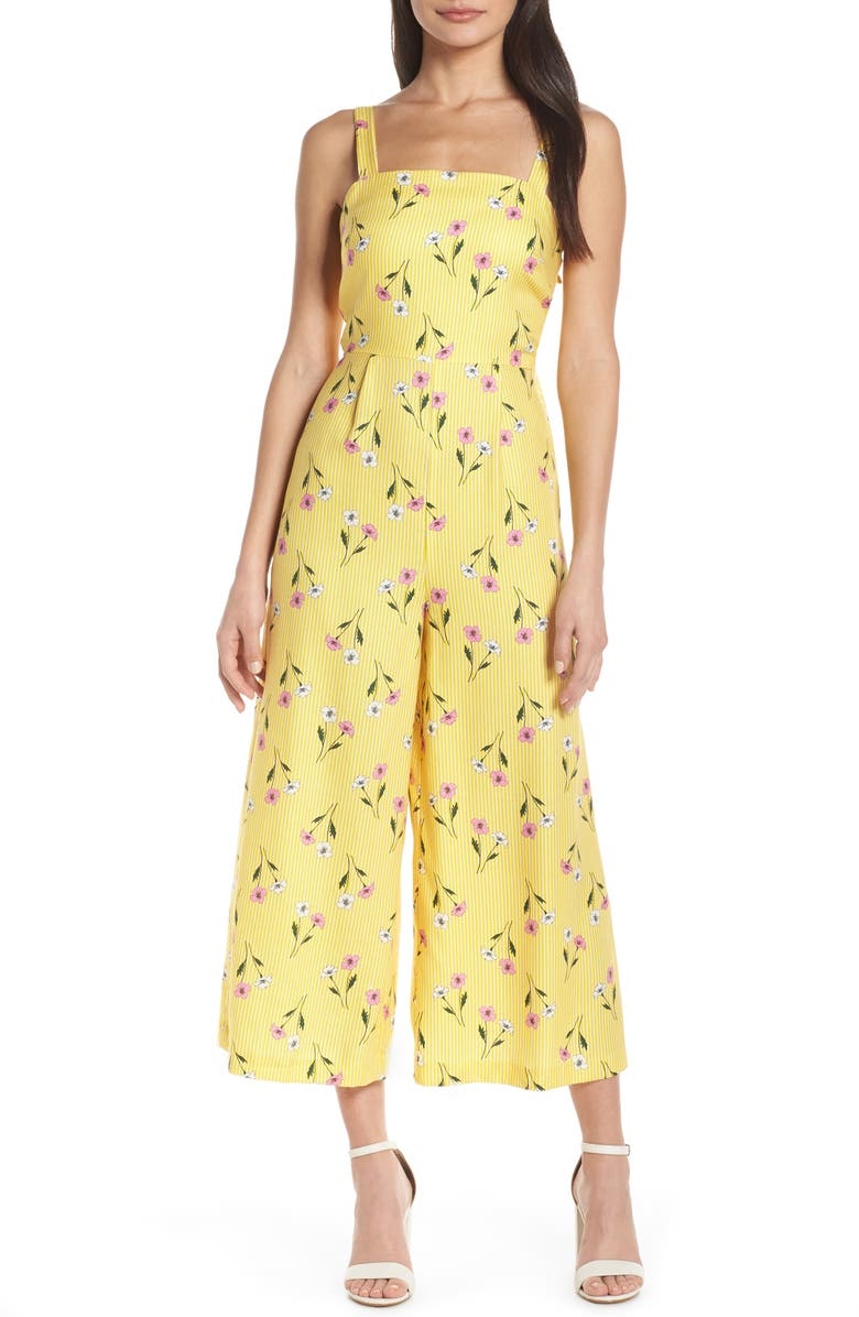 FINDERS KEEPERS Limoncello Cropped Jumpsuit, Main, color, 724