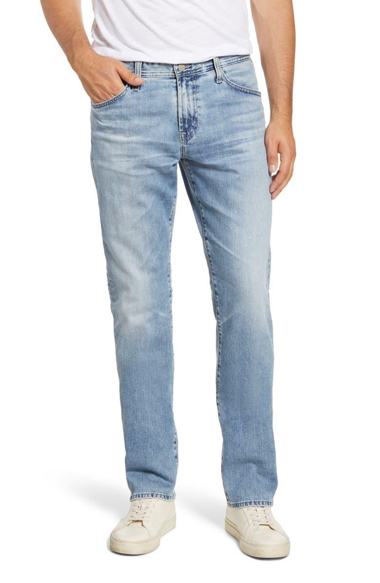 AG Everett Slim Straight Leg Jeans, Main, color, 19 YEARS RUNNER