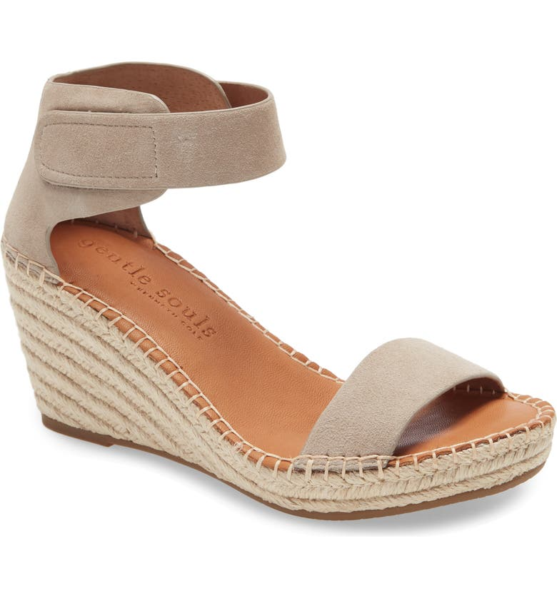 GENTLE SOULS BY KENNETH COLE Charli Wedge Sandal, Main, color, MUSHROOM SUEDE