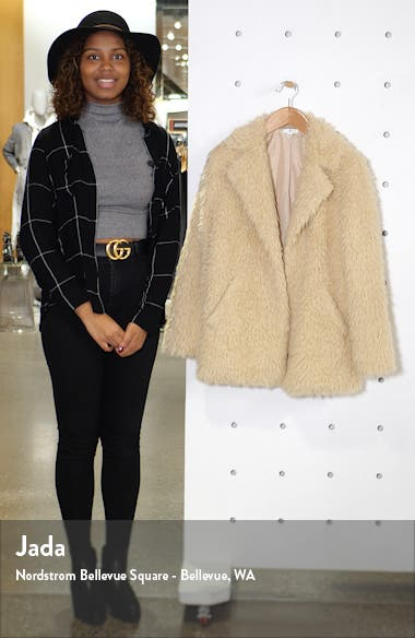 Faux Fur Teddy Coat, sales video thumbnail