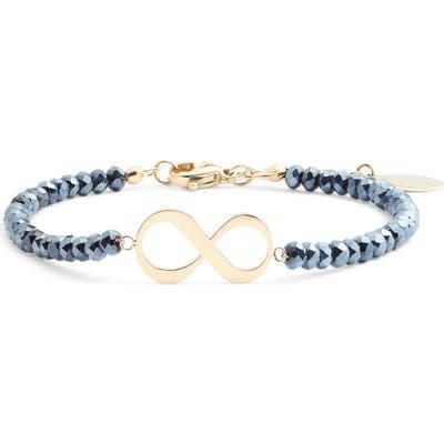 Knotty Beaded Charm Bracelet