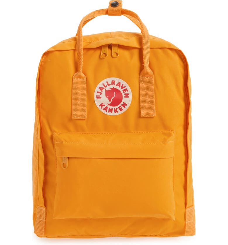 FJÄLLRÄVEN Kånken Water Resistant Backpack, Main, color, WARM YELLOW