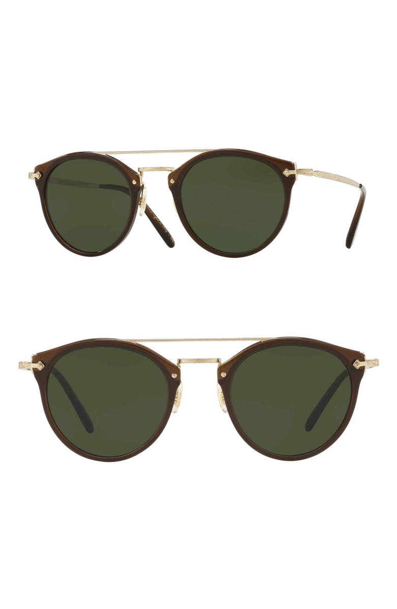 OLIVER PEOPLES Remick 50mm Sunglasses, Main, color, BROWN