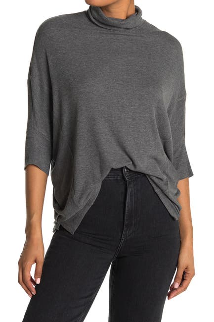 Image of H By Bordeaux Dolman Sleeve Turtleneck Top