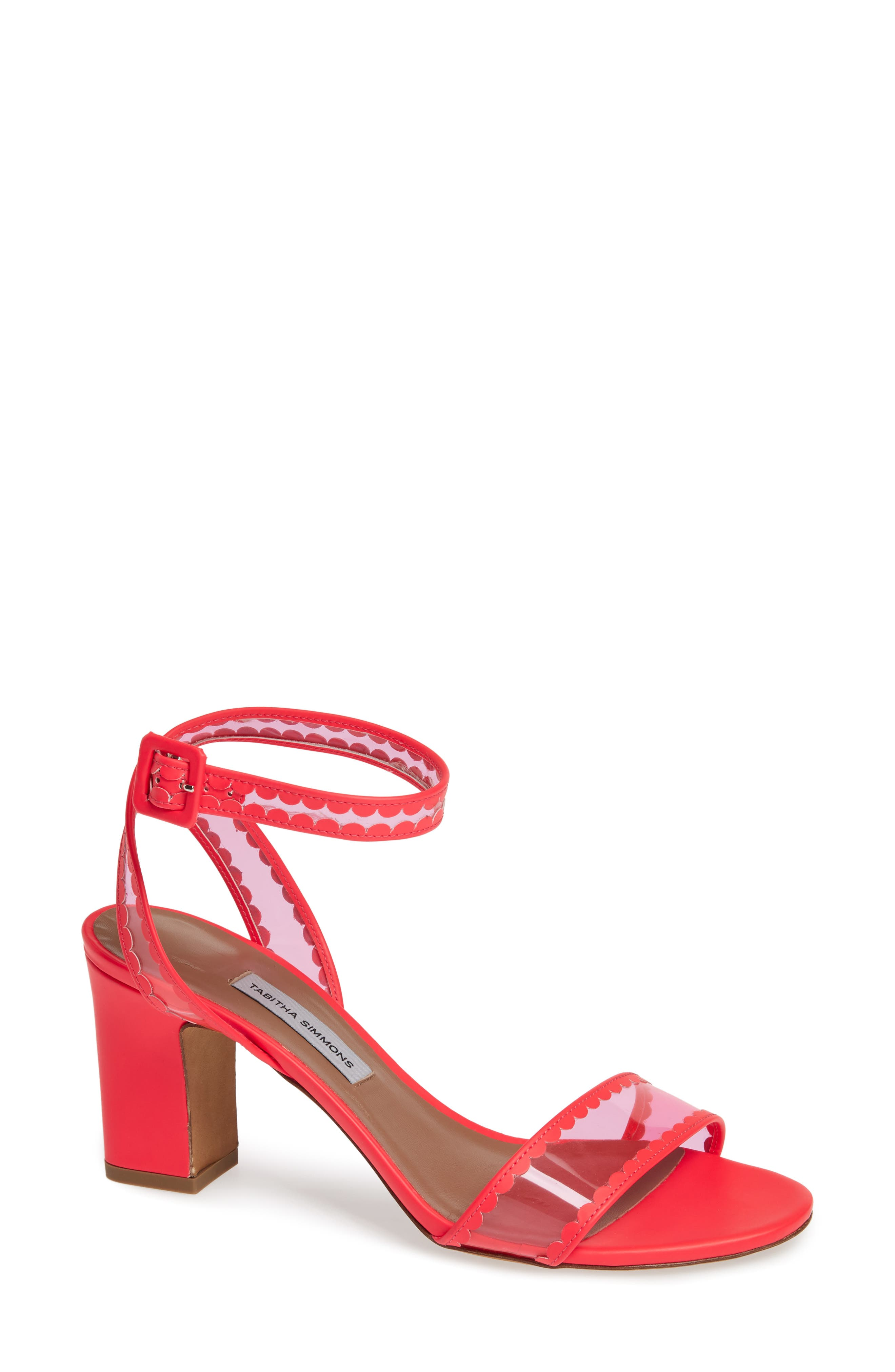 Tabitha Simmons Leticia Clear Ankle Strap Sandal, Pink