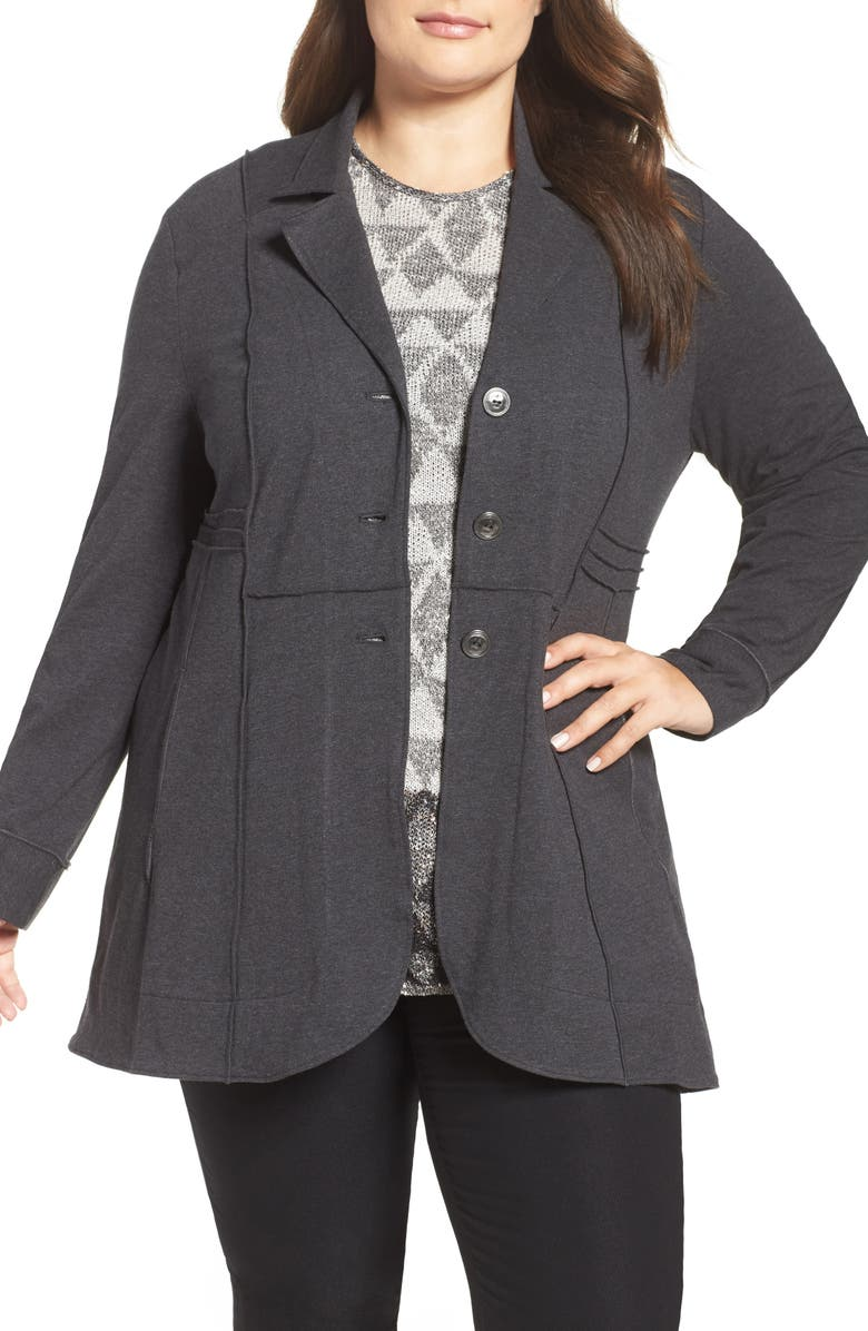 NIC+ZOE Seamed Riding Jacket, Main, color, PHANTOM HEATHER