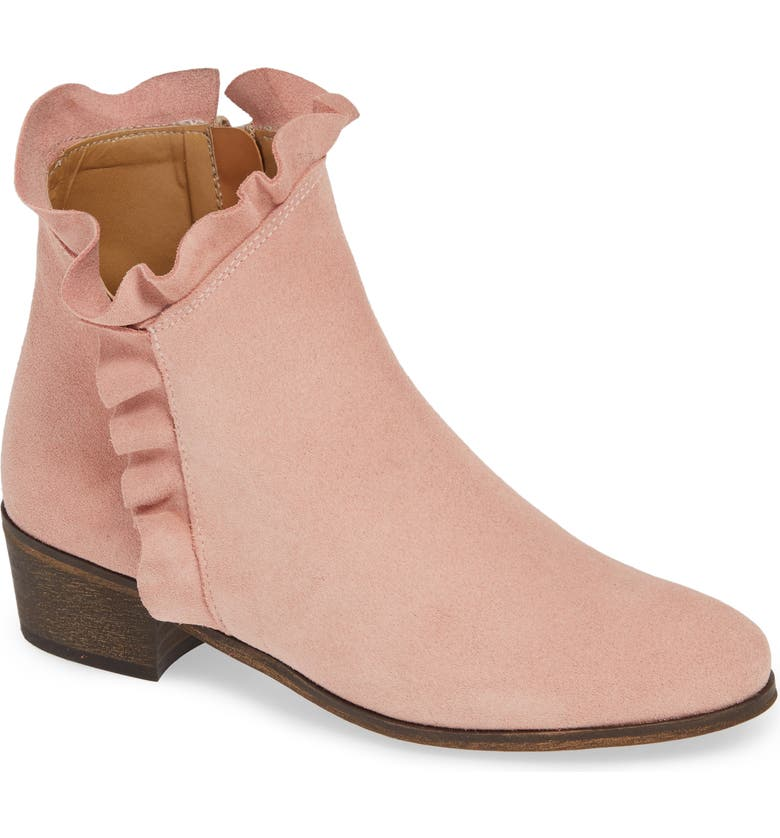 KLUB NICO Bryce Ruffle Top Bootie, Main, color, BLUSH