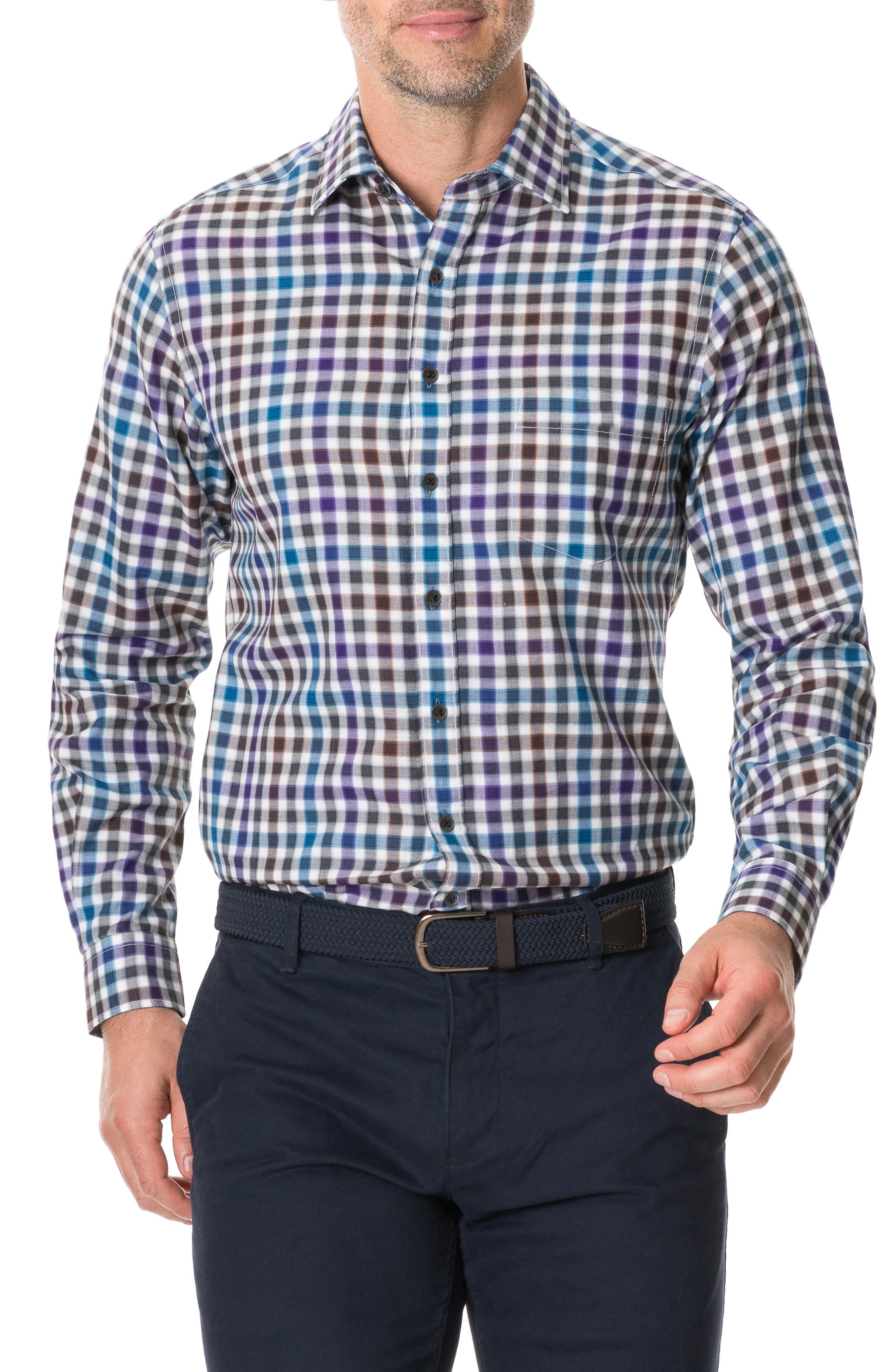 Image of RODD AND GUNN Pentland Hills Regular Fit Check Button-Up Shirt