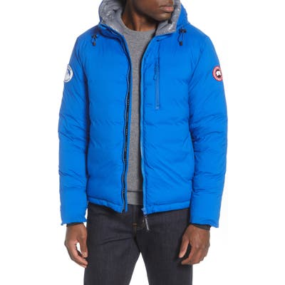 Canada Goose Pbi Lodge Slim Fit Packable 750 Fill Power Down Hooded Jacket, Blue