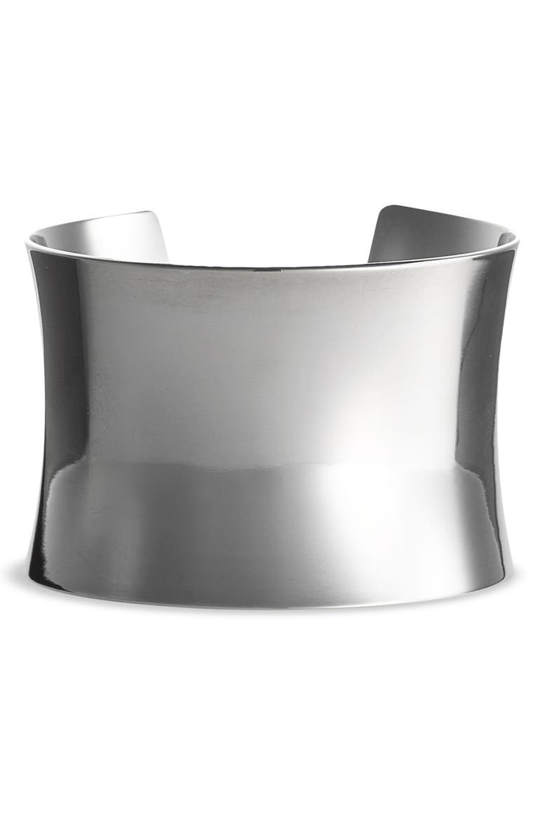 NORDSTROM 'Super Shiny' Curved Cuff, Main, color, 001