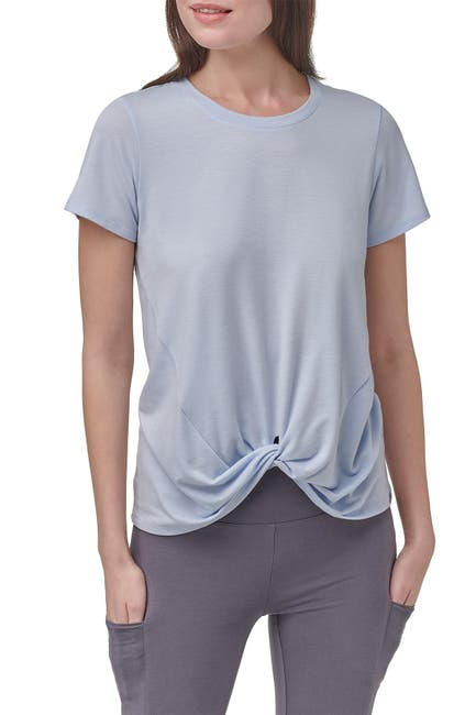 Image of MARC NEW YORK PERFORMANCE Short Sleeve Twist Front T-Shirt