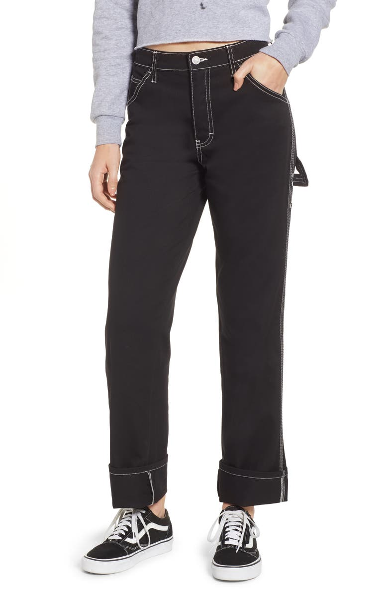 DICKIES Relaxed Fit Carpenter Pants, Main, color, BLACK