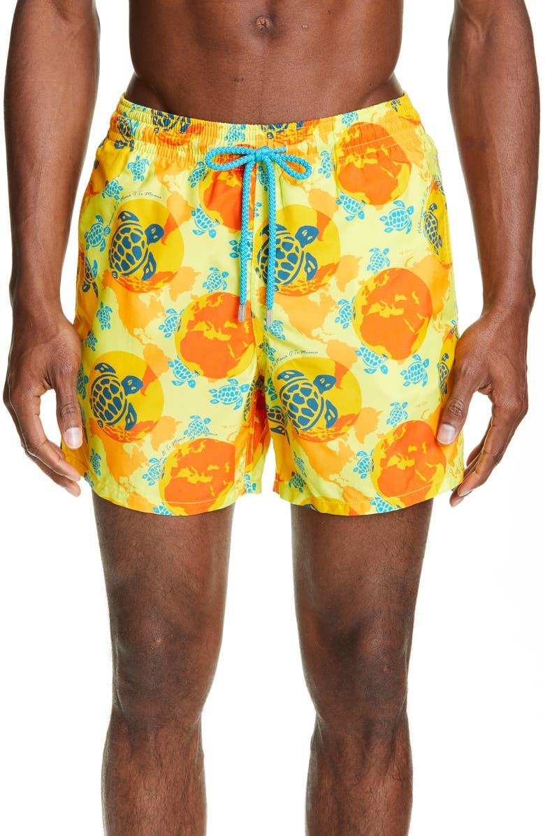VILEBREQUIN Mappemonde Dots Swim Trunks, Main, color, ACACIA