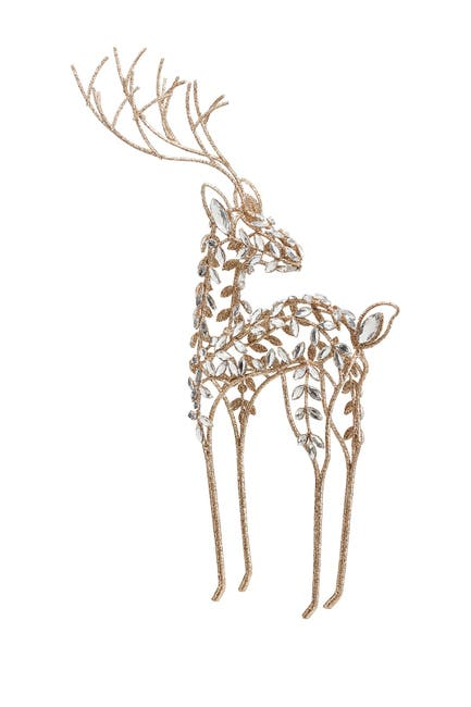 "Image of ALLSTATE 23.75"" Glittered Rhinestone Reindeer"