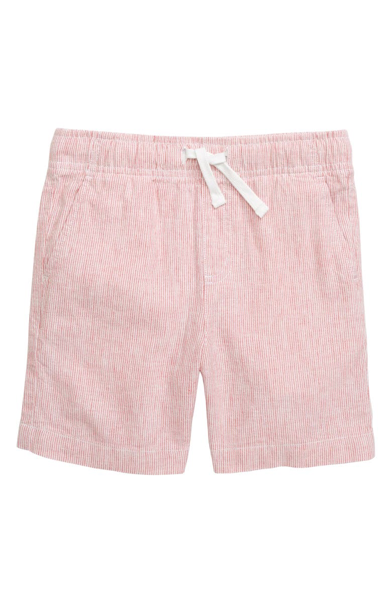 VINEYARD VINES Jetty Linen & Cotton Shorts, Main, color, JETTY RED