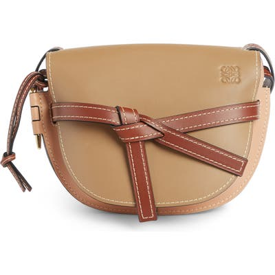 Loewe Gate Small Leather Crossbody Bag - Beige