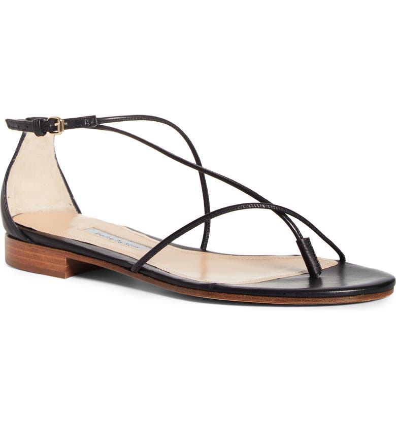 EMME PARSONS String Ankle Strap Sandal, Main, color, BLACK