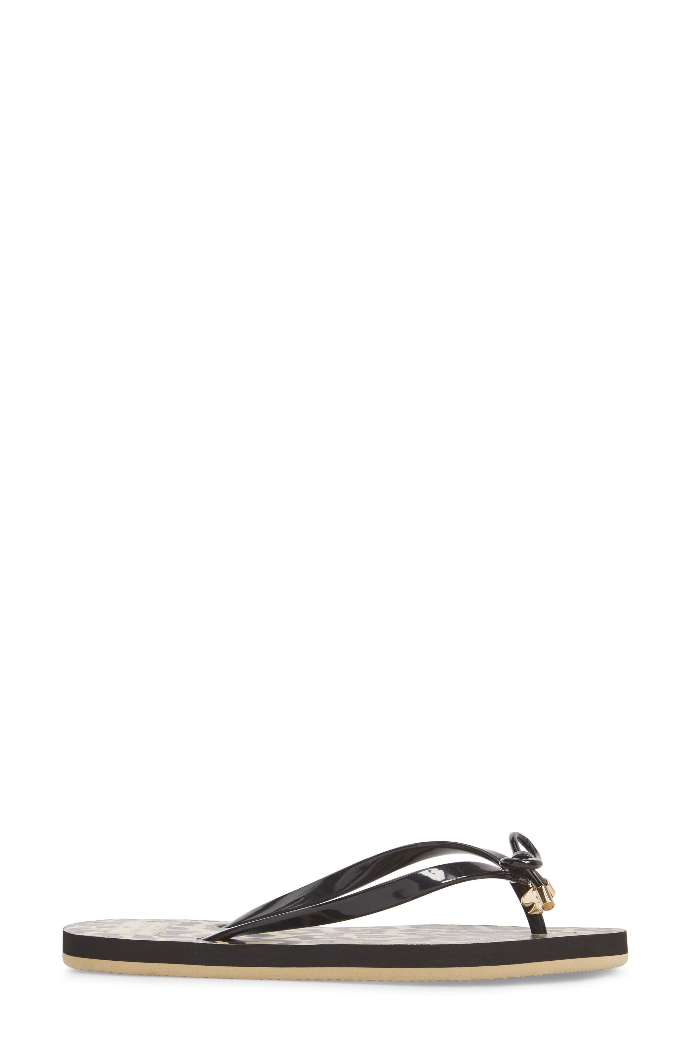 ,                             'nova' flip flop,                             Alternate thumbnail 3, color,                             BLACK LEOPARD PRINT
