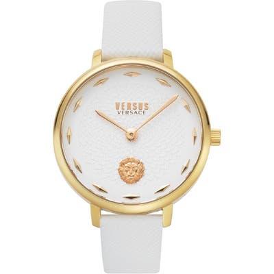 Versus Versace La Villette Leather Strap Watch,