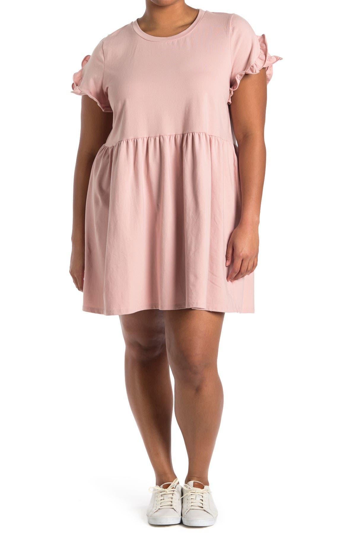 Image of Bobeau Ruffle Trim Dress