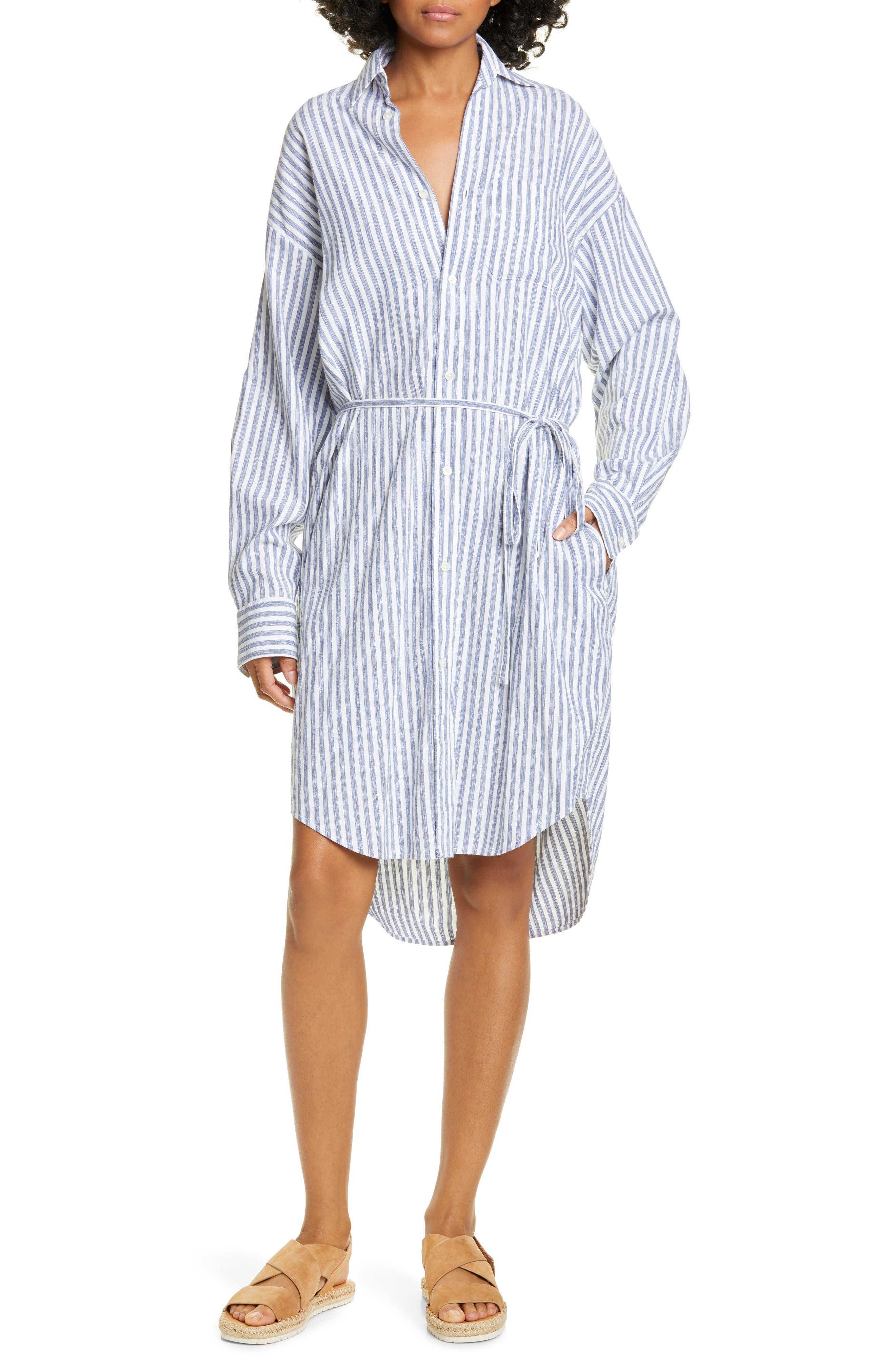 Oversize Stripe Shirt, Main, color, INDIGO