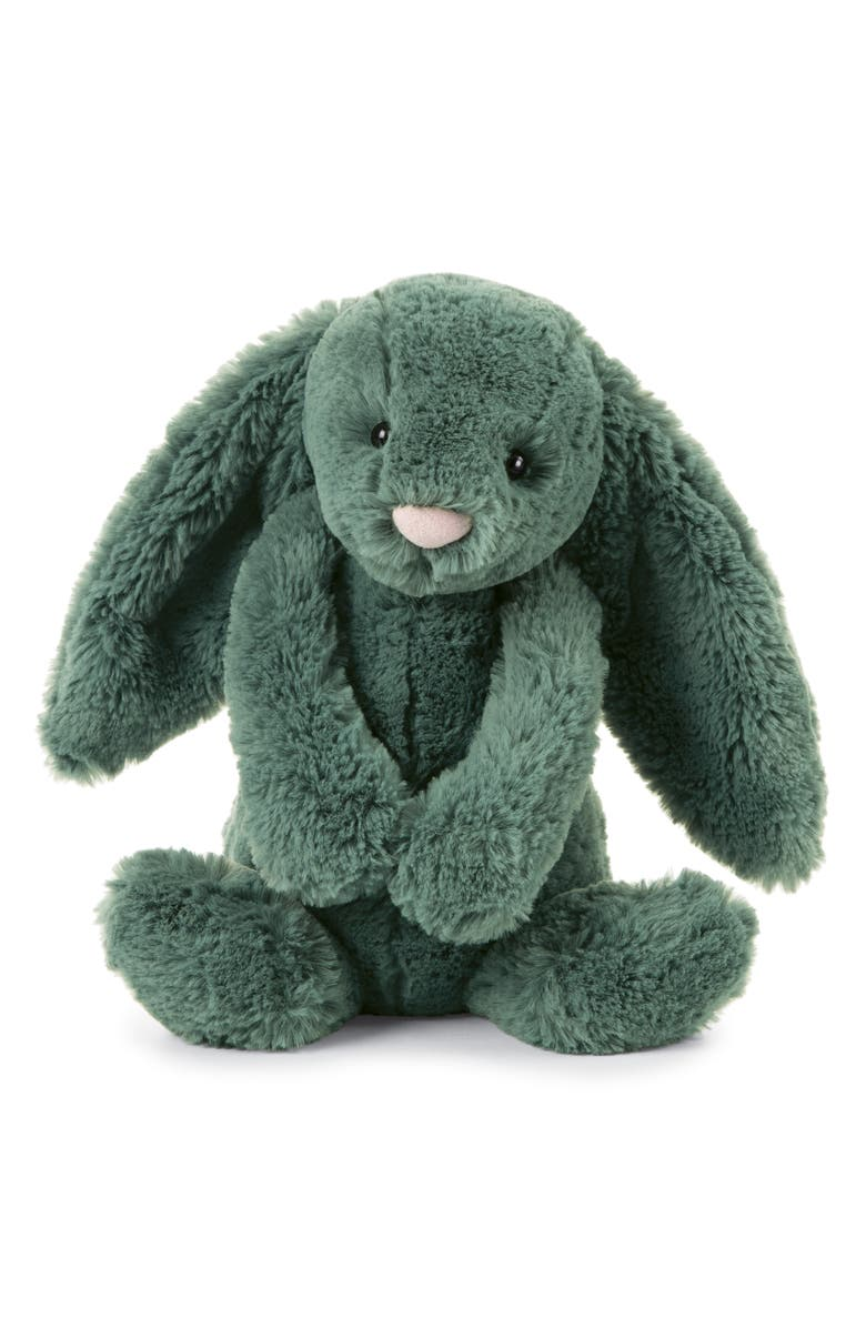JELLYCAT Bashful Forest Bunny Stuffed Animal, Main, color, GREEN