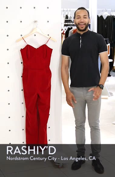 Hayden Strapless Velvet Jumpsuit, sales video thumbnail