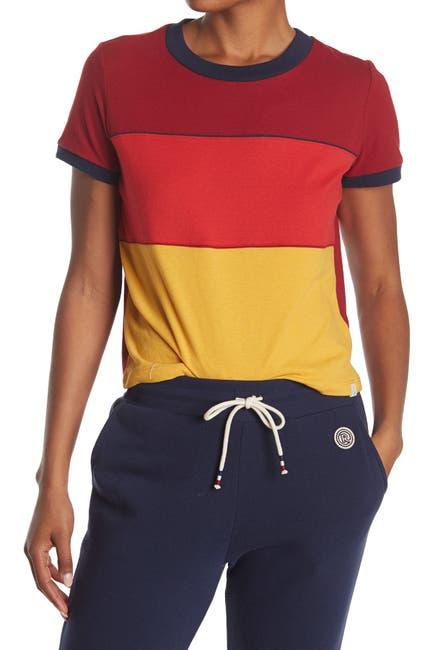 Image of Marine Layer Re-Spun Colorblock Boxy Crop T-Shirt