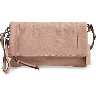 Sole Society Marlena Faux Leather Clutch - Beige