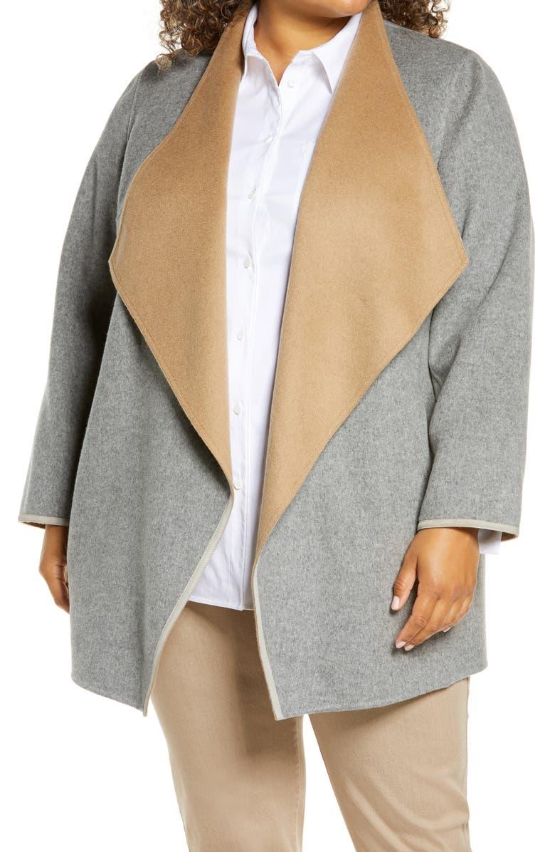 LAFAYETTE 148 NEW YORK Valasca Reversible Wool & Cashmere Jacket, Main, color, 089
