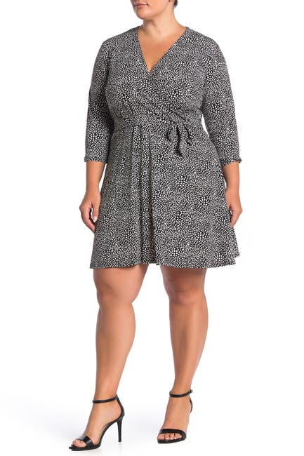Image of Leota Perfect 3/4 Sleeve Wrap Dress