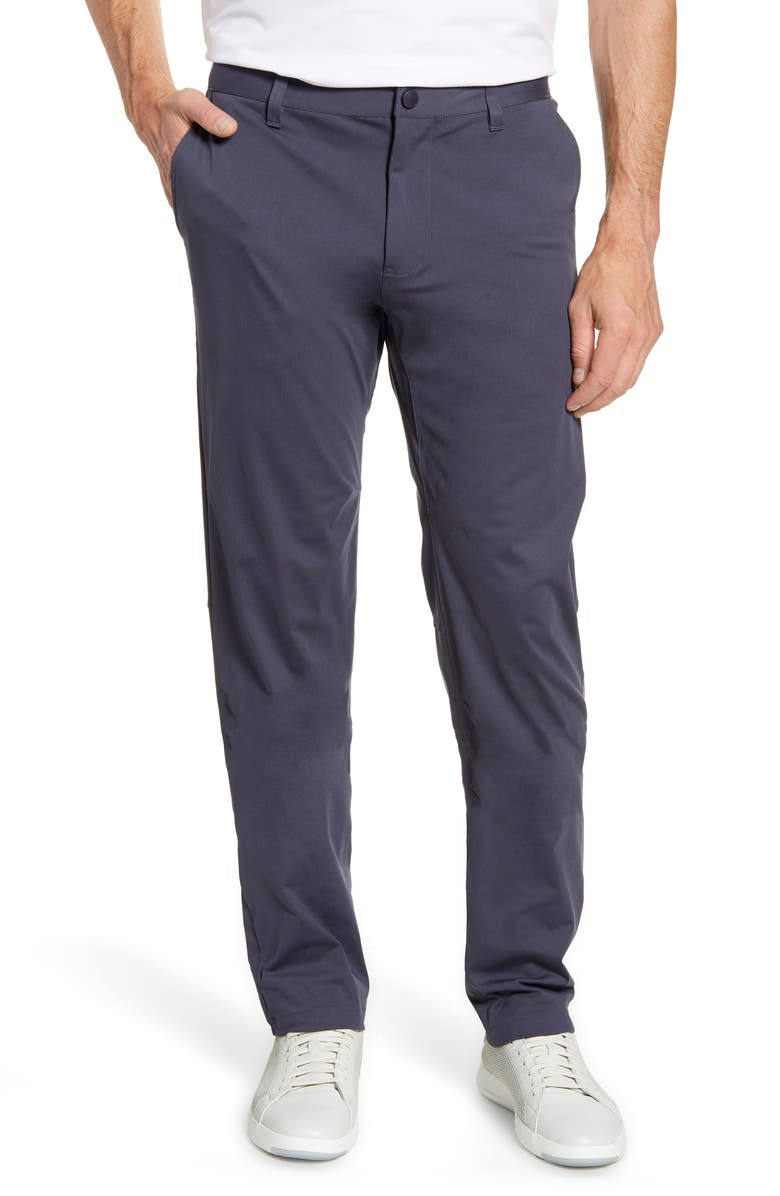 RHONE Commuter Straight Fit Pants, Main, color, IRON