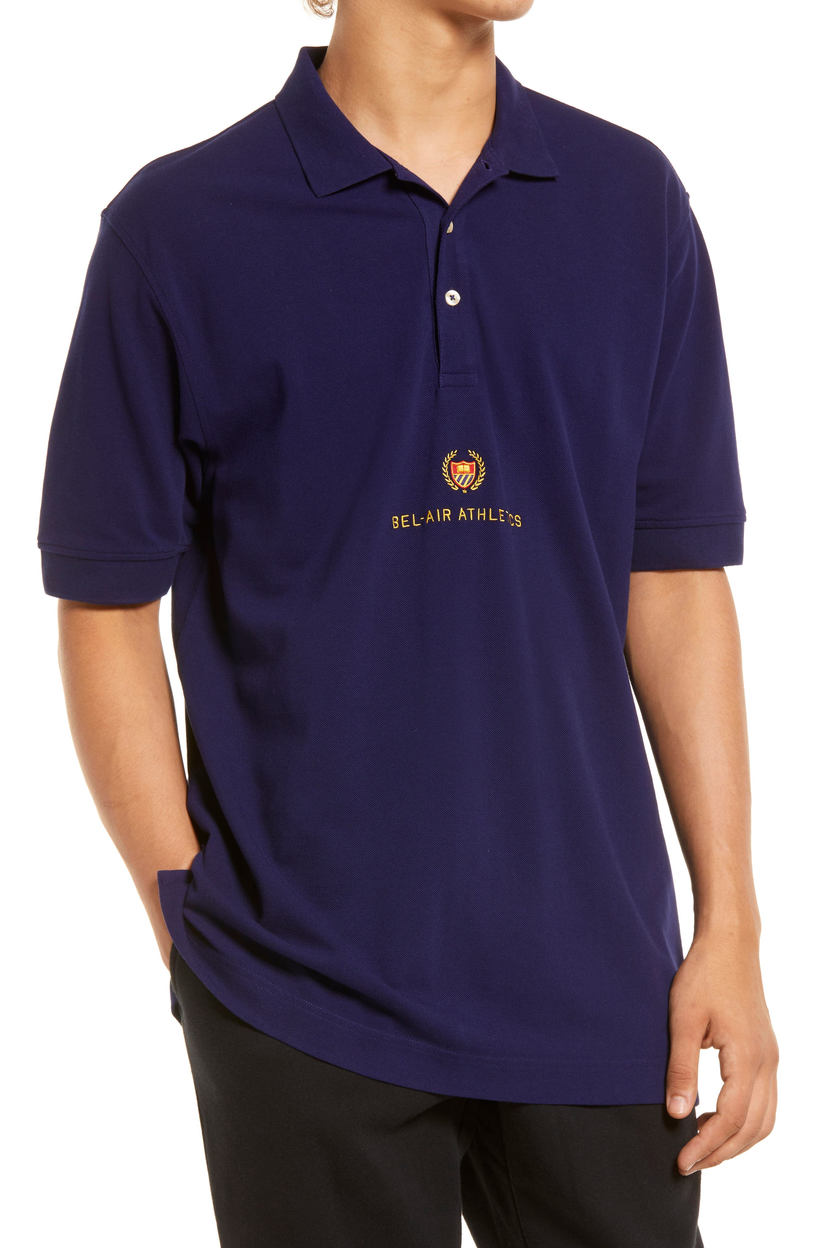 Men's Academy Crest Cotton Polo Shirt