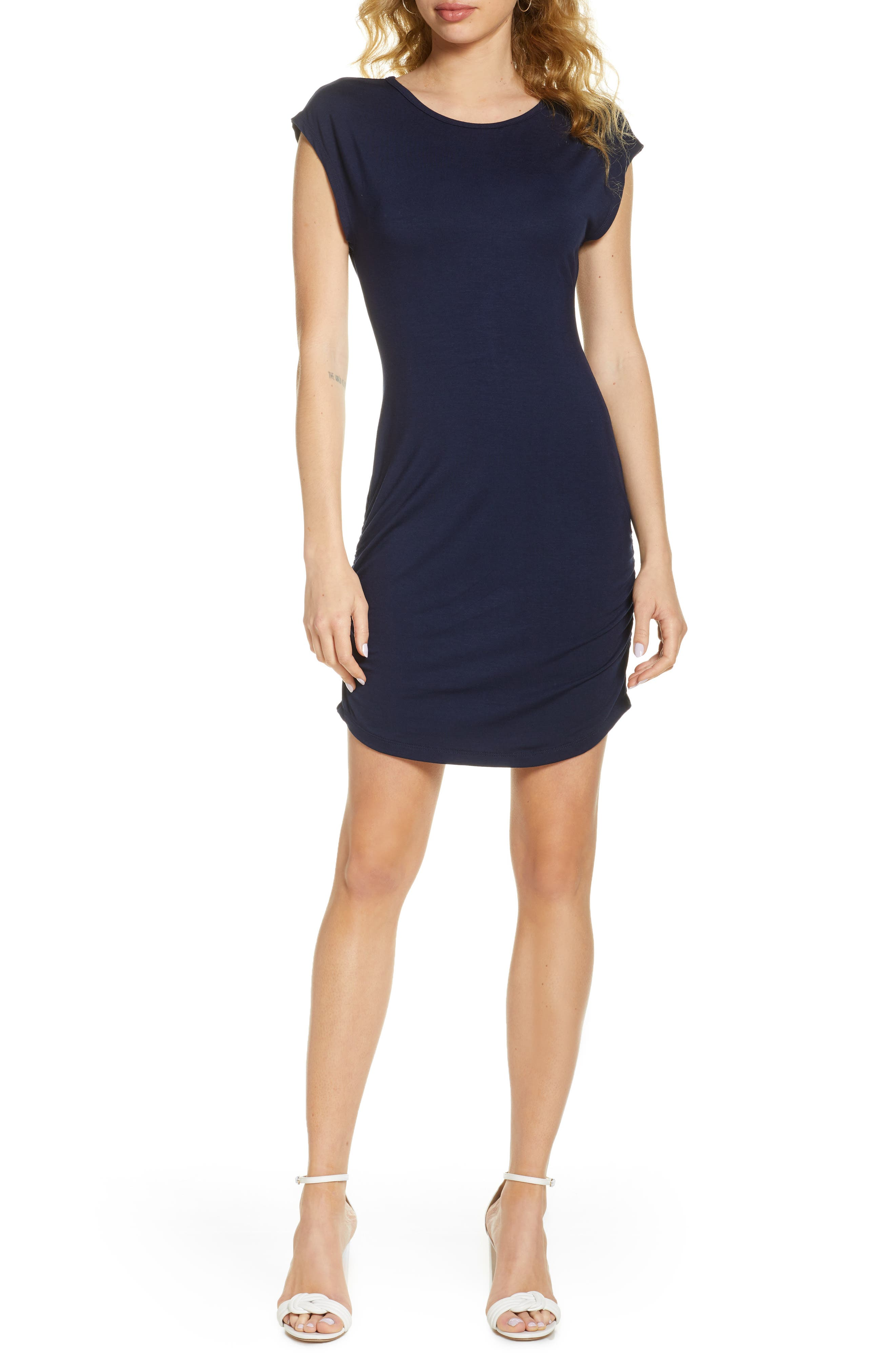 Side Ruched Minidress