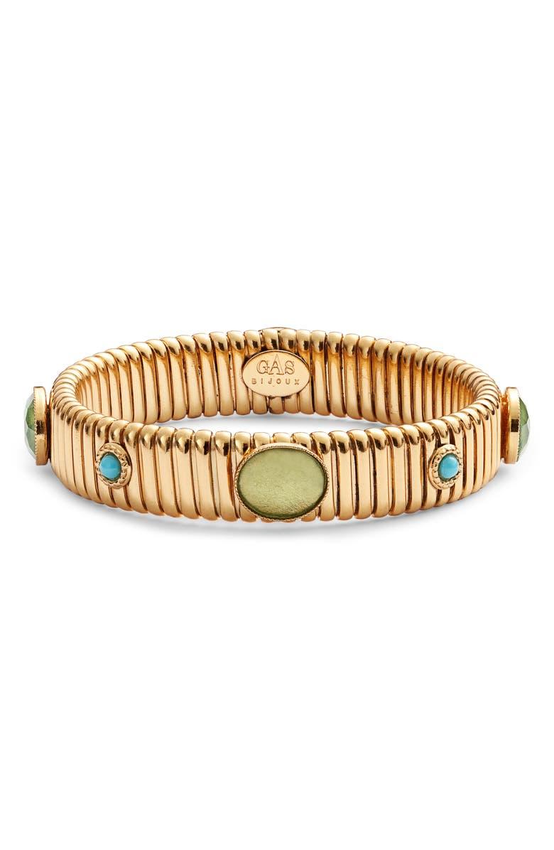GAS BIJOUX Strada Cabochon Bracelet, Main, color, GOLD/ BLUE
