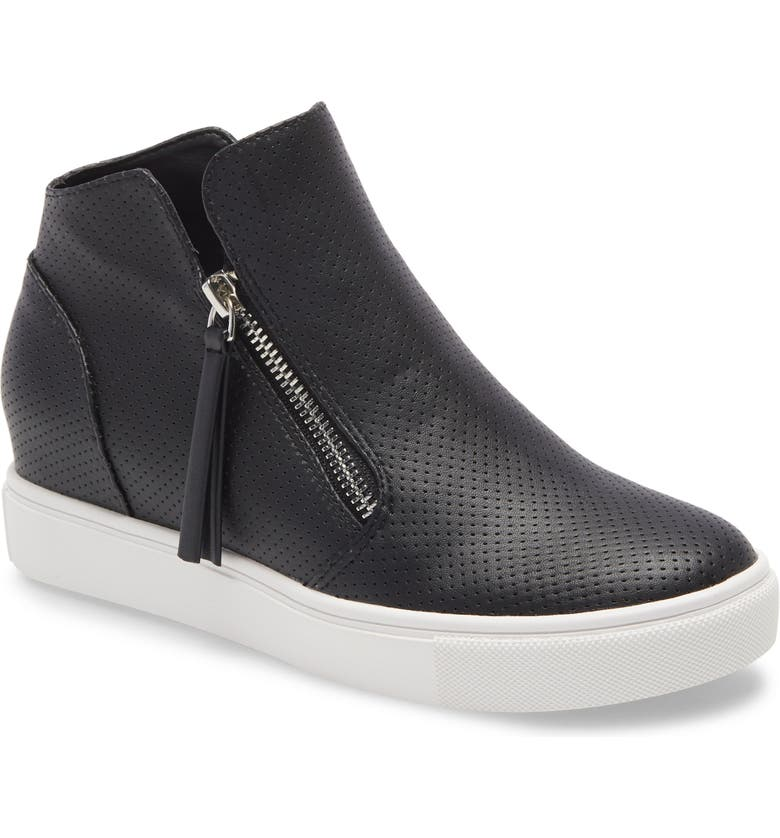 STEVE MADDEN Caliber High Top Sneaker, Main, color, BLACK FAUX LEATHER