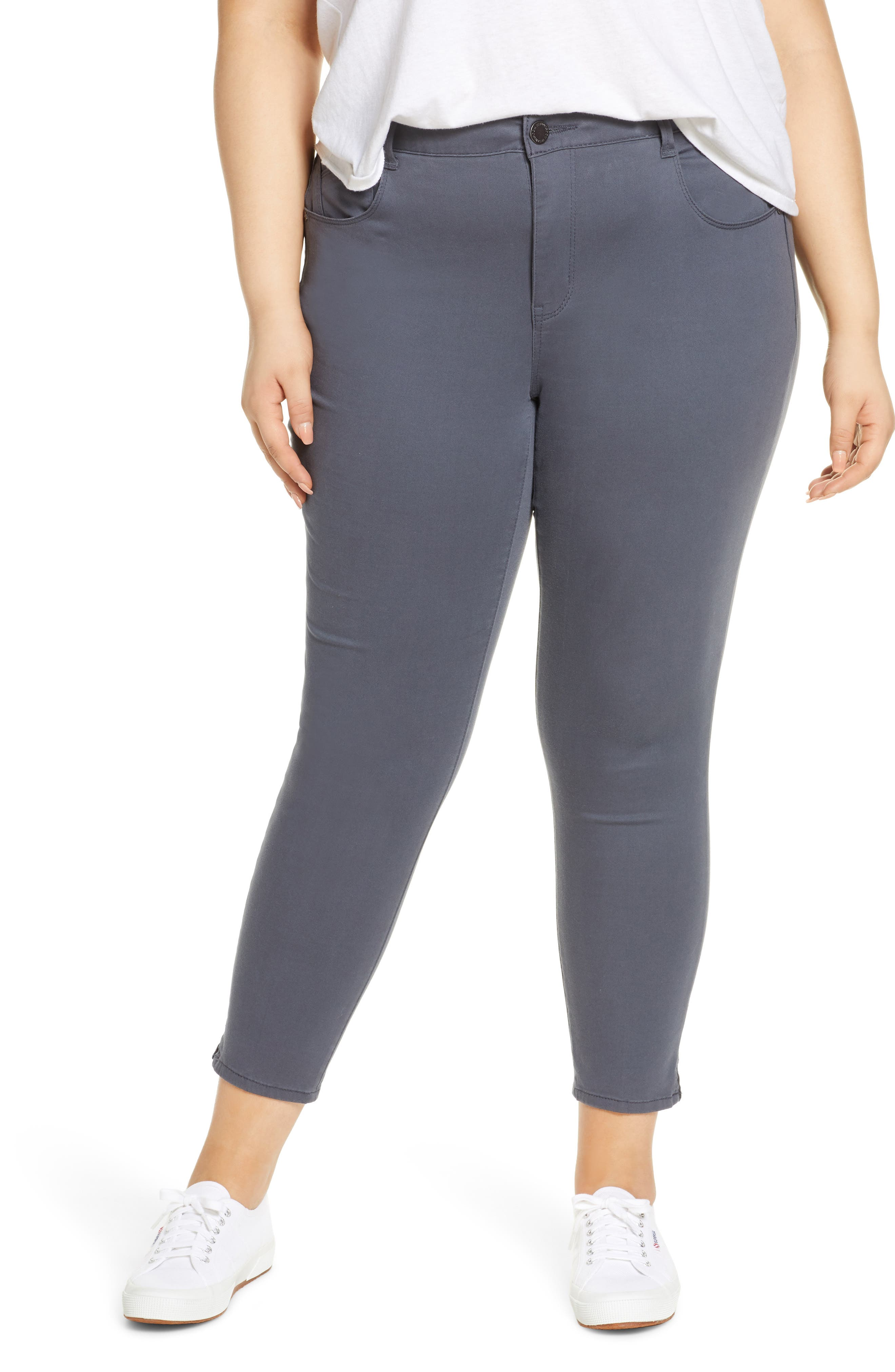 Stretchy, ankle-grazing skinny pants are designed for a slimming fit with Ab-solution technology to shape, smooth and lift in all the right places. Style Name: Wit & Wisdom Ab-Solution High Waist Ankle Skinny Pants (Plus Size) (Nordstrom Exclusive). Style Number: 5785708 1. Available in stores.