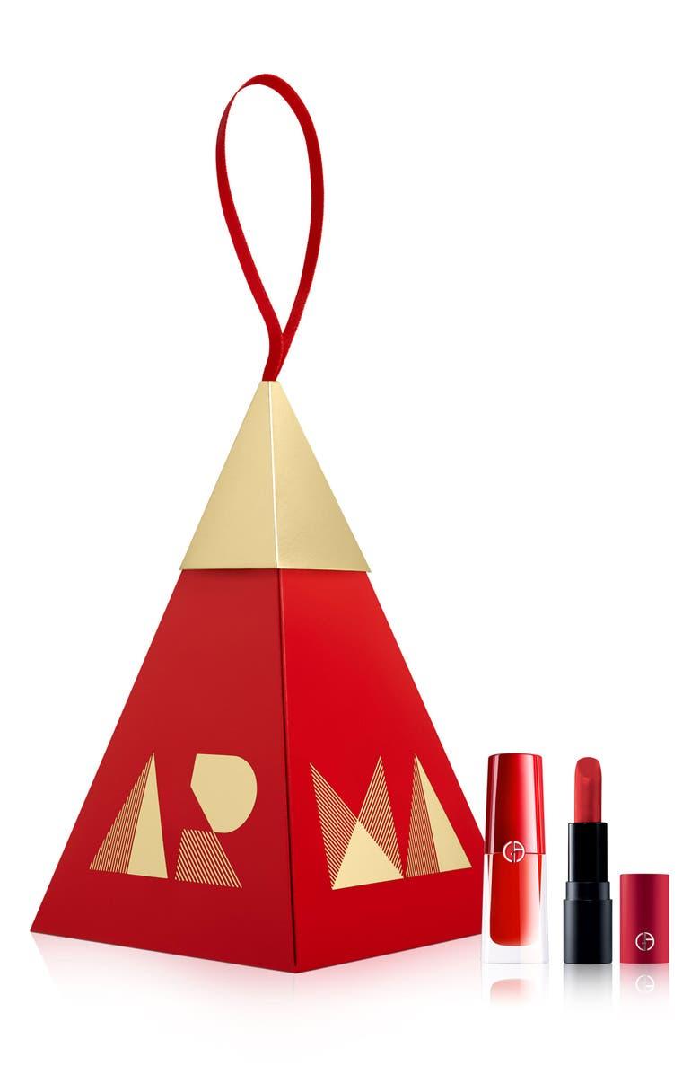 GIORGIO ARMANI Red Lip Duo Ornament, Main, color, 600