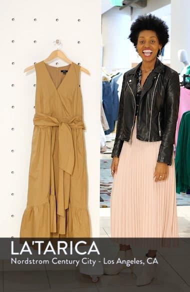 Faux Wrap Cotton Poplin Dress, sales video thumbnail