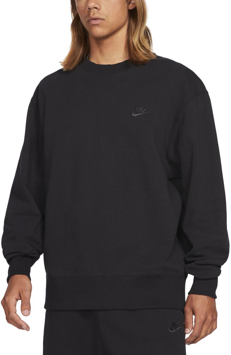 NIKE Sportswear Oversize Crewneck Sweatshirt, Main, color, BLACK/ OFF NOIR