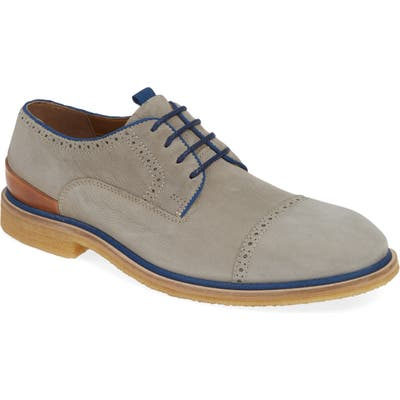J & m 1850 Wagner Cap Toe Derby, Grey